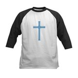 Blue on Blue Crosses Tee