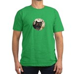 Bobcat in Brush Men's Fitted T-Shirt (dark)