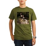 Two Turkeys on a Log Organic Men's T-Shirt (dark)