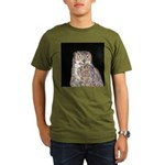 Great Horned Owl Organic Men's T-Shirt (dark)