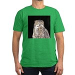 Great Horned Owl Men's Fitted T-Shirt (dark)