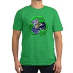 Reduce Reuse Recycle Earth Men's Fitted T-Shirt (d