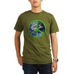 Earth Peace Symbol Organic Men's T-Shirt (dark)