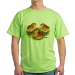 Red Leghorn Chicks Green T-Shirt
