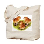 Red Leghorn Chicks Tote Bag