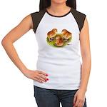 Red Leghorn Chicks Women's Cap Sleeve T-Shirt