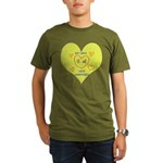 Hug your Kids Heart Organic Men's T-Shirt (dark)