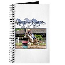 Barrel Racing Hoofprints Journal