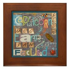 Funny Capricorns Framed Tile