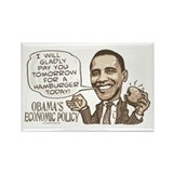 Wimpy Obama Hamburger Rectangle Magnet