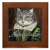 Shakespeare's Cat Framed Tile