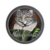 Shakespeare's Cat Wall Clock
