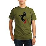 Kokopelli Skateboard Organic Men's T-Shirt (dark)