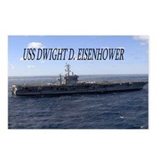 USS Dwight D Eisenhower Postcards (Package of 8)