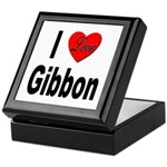 I Love Gibbon Keepsake Box