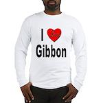 I Love Gibbon (Front) Long Sleeve T-Shirt