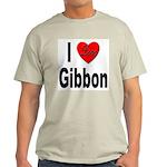 I Love Gibbon (Front) Ash Grey T-Shirt