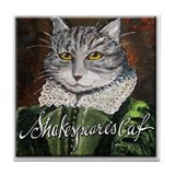 Shakespeare's Cat Tile Coaster