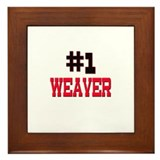 Number 1 WEAVER Framed Tile