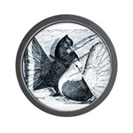 Indian Fantail Pigeons Wall Clock