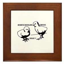 Homeschool Chicks Rule! Framed Tile