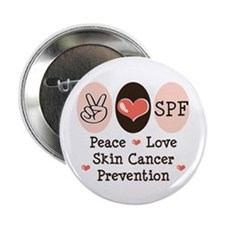 "Peace Love SPF 2.25"" Button (100 pack)"