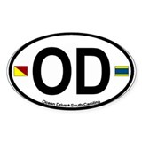 Ocean Drive SC Oval Decal