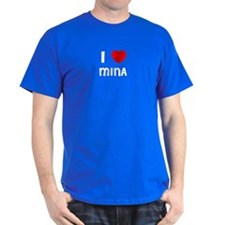 I LOVE MINA Black T-Shirt