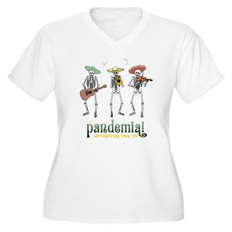 Pandemia! Women's Plus Size V-Neck T-Shirt
