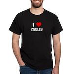 I LOVE MOLLY Black T-Shirt