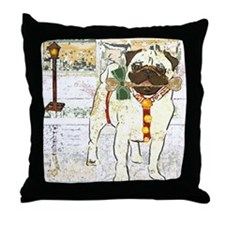 Holiday Pug Throw Pillow