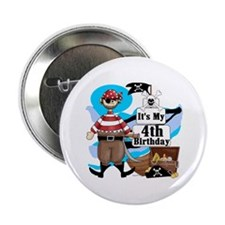 "Pirate's Life 4th Birthday 2.25"" Button"