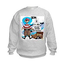 Pirate's Life 5th Birthday Sweatshirt