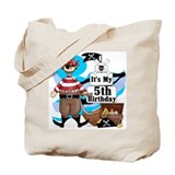 Pirate's Life 5th Birthday Tote Bag
