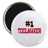 "Number 1 TOOLMAKER 2.25"" Magnet (10 pack)"