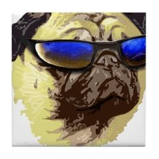 Cool Pug Tile Coaster