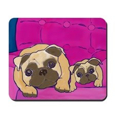 Two Pugs Together Mousepad