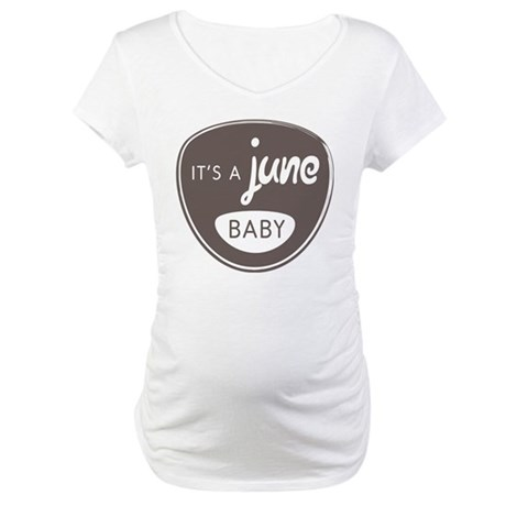 Gray It's a June Baby Maternity T-Shirt
