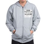 Obama--the man with the TLC Zip Hoodie