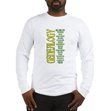 Genealogy List Long Sleeve T-Shirt