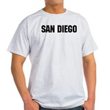 San Diego, California Ash Grey T-Shirt