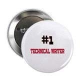 "Number 1 TECHNICAL WRITER 2.25"" Button (10 pack)"