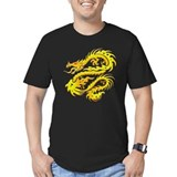 Awesome Gold Dragon T-Shirt (black)
