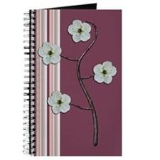 Plum Striped Journal
