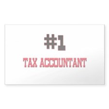 Number 1 TAX ACCOUNTANT Rectangle Decal