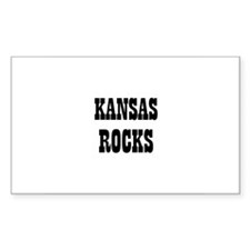 KANSAS ROCKS Rectangle Decal