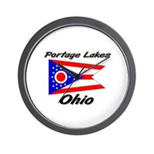Portage Lakes Ohio Wall Clock