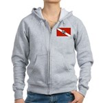 Dive Pirate Women's Zip Hoodie