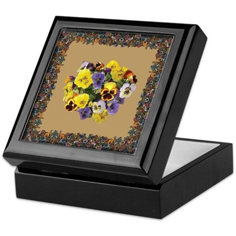 PANSIES FOR MOM Keepsake Box