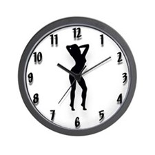 Cute Porn girls Wall Clock